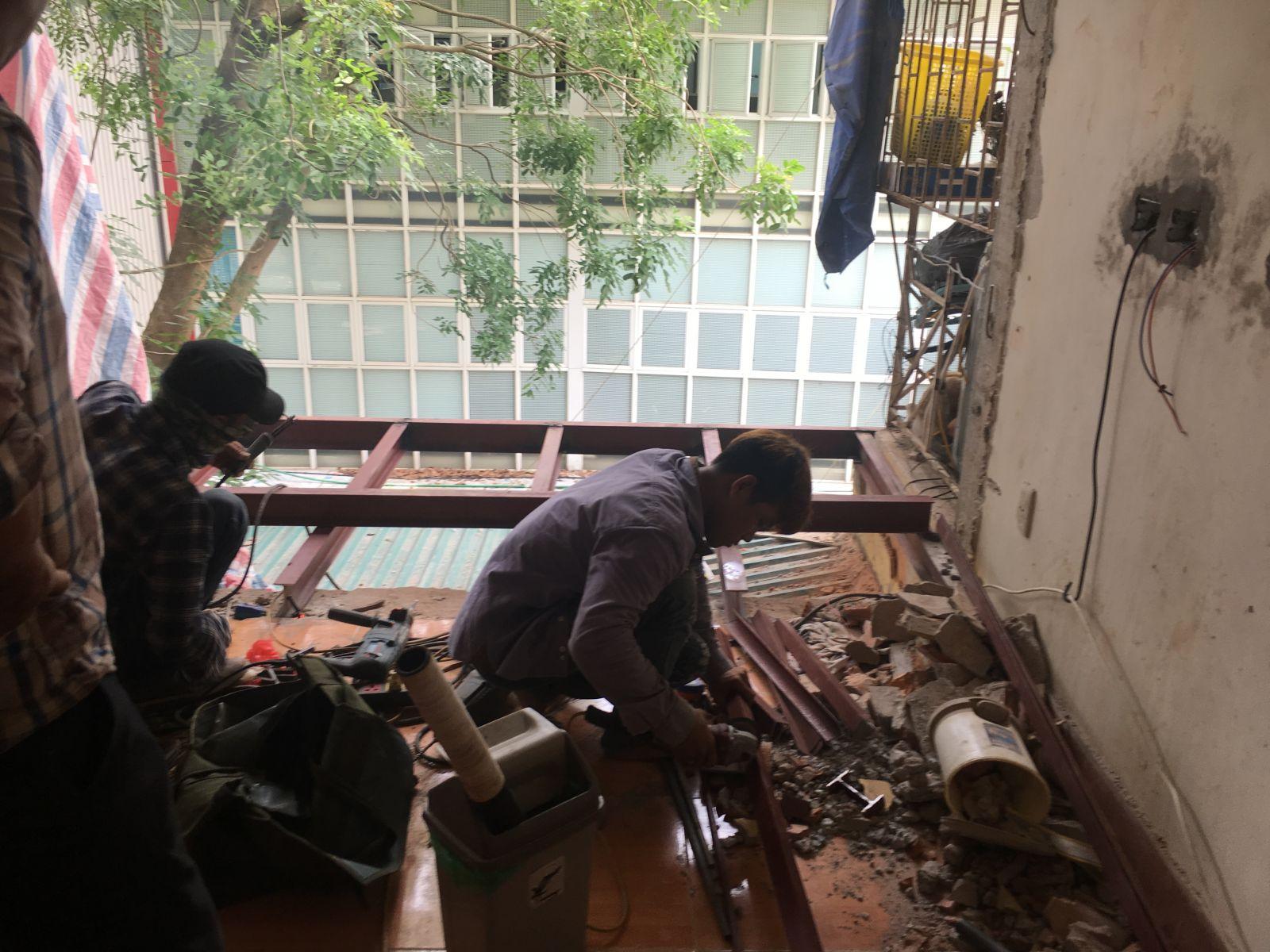 Công trình cải tạo chung cư cũ nhà Chị Thanh địa chỉ P313-A5 ngõ 28/76, Xuân La, Tây Hồ, Hà Nội-1