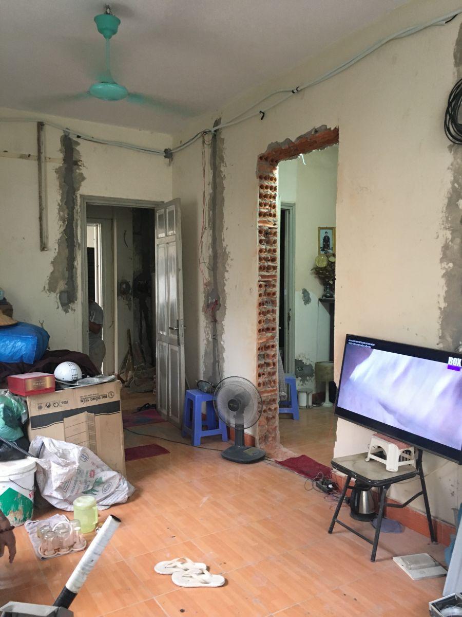 Công trình cải tạo chung cư cũ nhà Chị Thanh địa chỉ P313-A5 ngõ 28/76, Xuân La, Tây Hồ, Hà Nội-3
