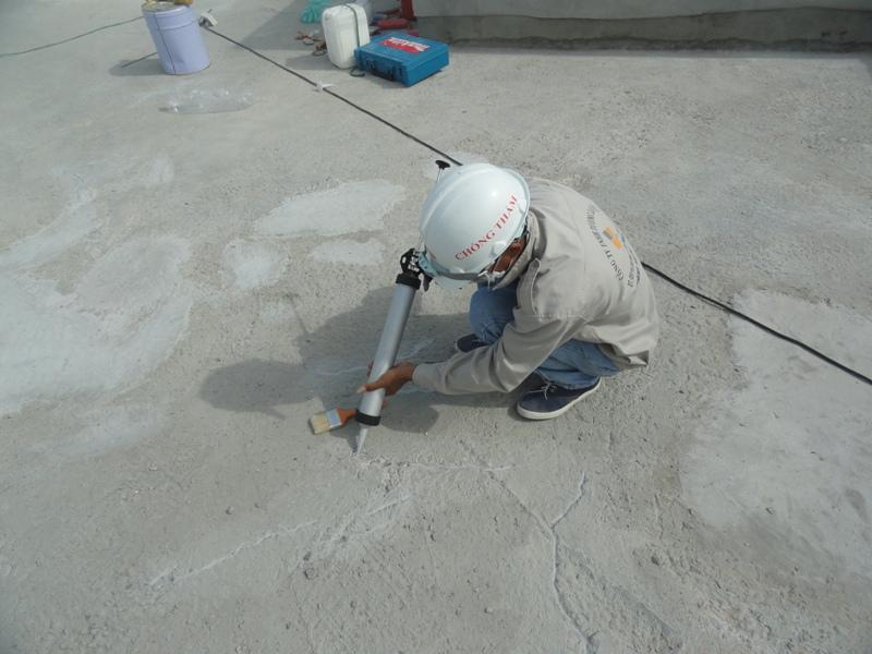 Chống thấm sàn mái, công trình tòa nhà Tín Phát, số 5 Khuất Duy Tiến, HN