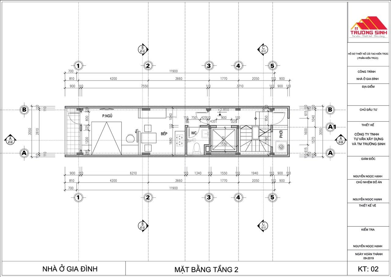 Thiết kế và thi công sửa nhà trọn gói, xây nhà trọn gói tại Hồ Đắc Di, Đống Đa, Hà Nội.