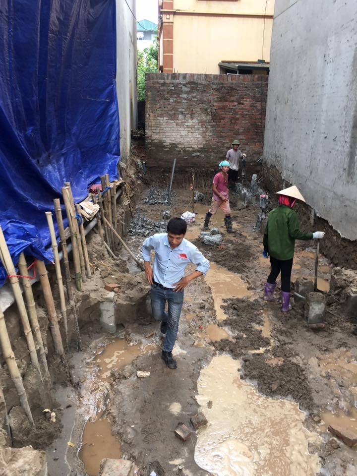 Xây nhà trọn gói- Công tác ép cọc đào móng
