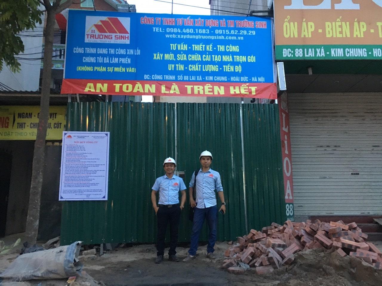 Xây nhà trọn gói giá rẻ mặt phố Huyện Hoài Đức thành phố Hà Nội