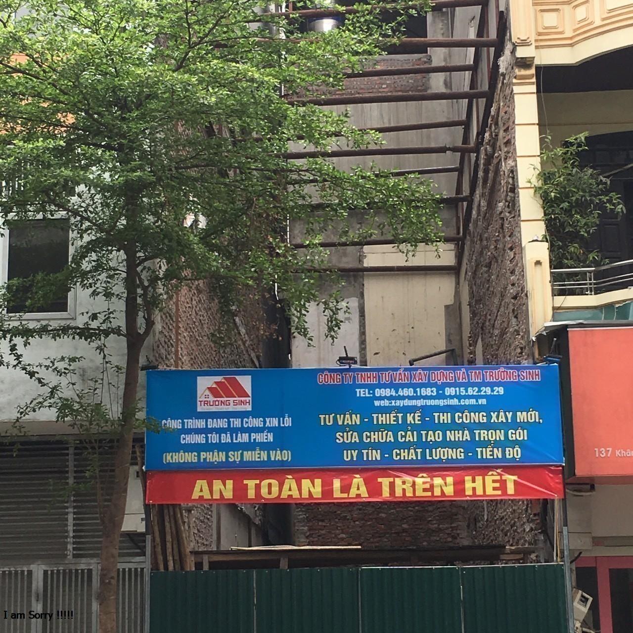 Xây nhà trọn gói mặt phố Khâm Thiên, Đống Đa, Hà Nội